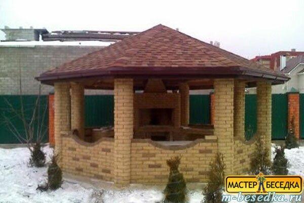 Беседка на даче своими руками из металла и поликарбоната фото